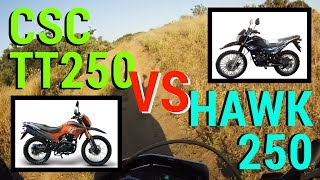 7. CSC TT250 vs HAWK 250: What's The Difference!? - A Chinese Dual Sport Motorcycle Comparison