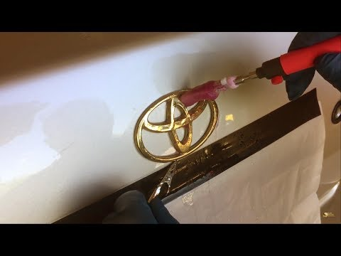 How to: Gold Plating on Plastic Chrome Car Emblems & Badges - ON CAR