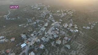 مشاهد جوية لقرية رامين شرق طولكرم
