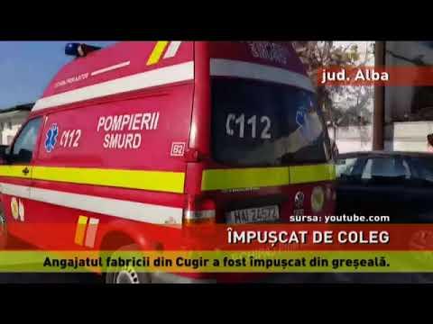 Un angajat al fabricii de armament din Cugir, împușcat din greșeală