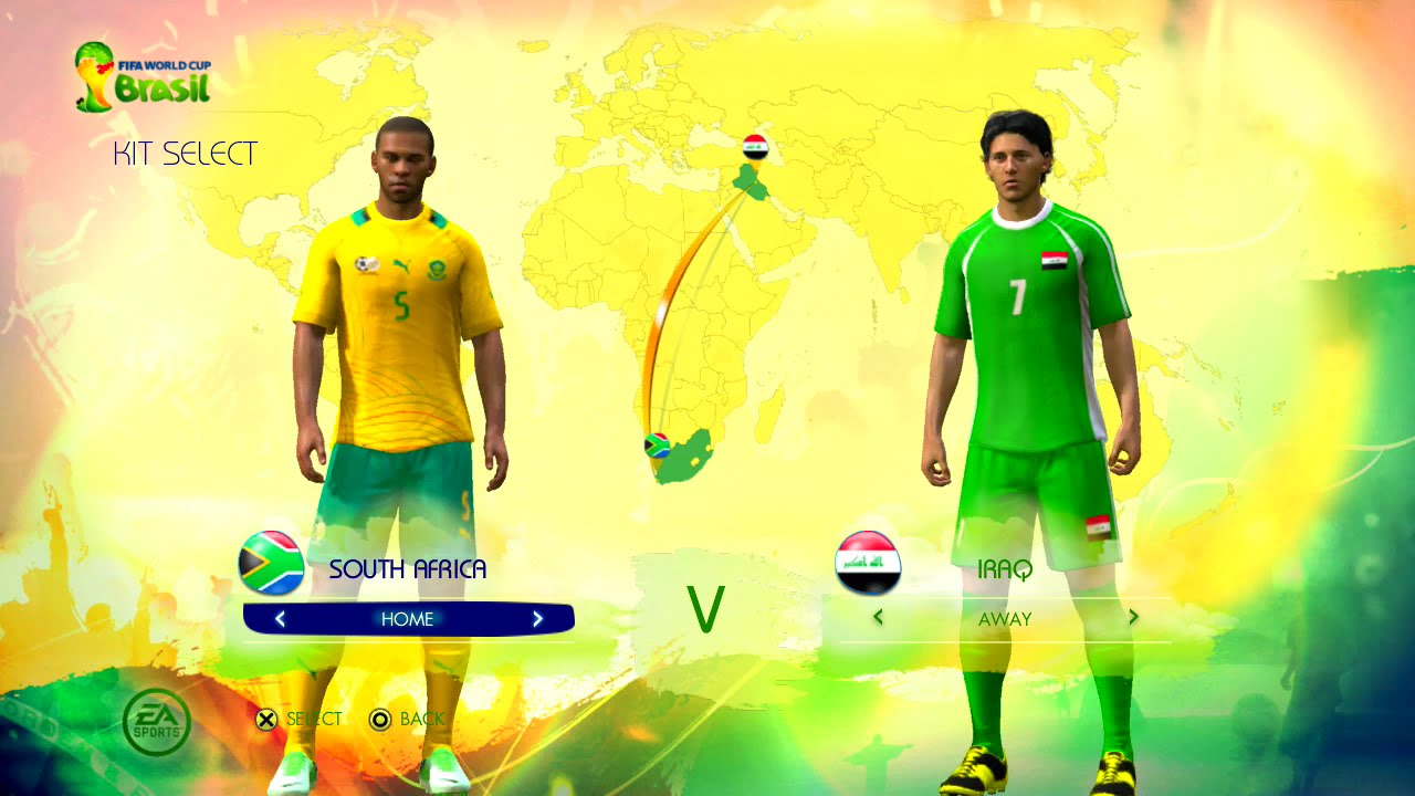South Africa vs Iraq Group B Game Pretend Olympic Games Using 2014 FIFA World Cup Brazil