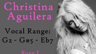 Video Christina Aguilera Vocal Range: G2 - G#5 - Eb7 MP3, 3GP, MP4, WEBM, AVI, FLV Agustus 2018