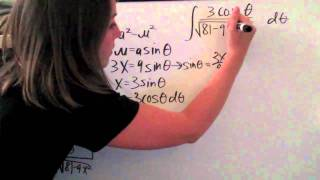 Trigonometric Substitution Example 5