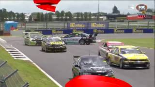 Simon Fleming spins in race 1 at Pukekohe of the 2016/2017 BNT New Zealand Touring Car Series