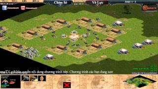 [Assyrian] Chim Sẻ Đi Nắng vs Võ Lức  Trận 4, ngày 04/08/2015, game đế chế, clip aoe, chim sẻ đi nắng, aoe 2015
