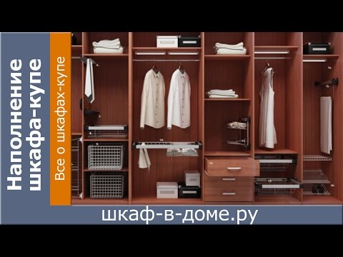 Наполнение шкафа купе (какое выбрать наполнение шкафа купе) (видео)
