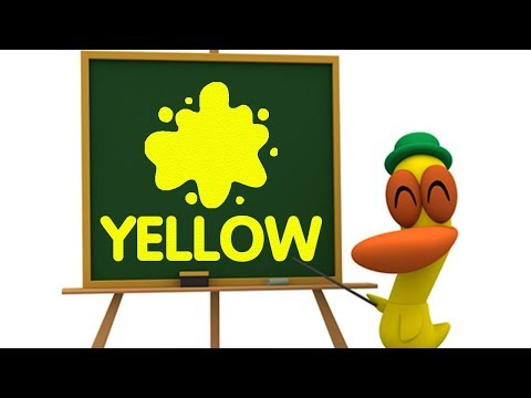 Learn the colors with Pocoyo YELLOW   Educational Songs in English for Kids