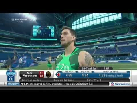 Zack Wagenmann 2015 NFL Combine video.