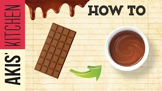 How to melt Chocolate Bain Marie | Akis Kitchen by Akis Kitchen