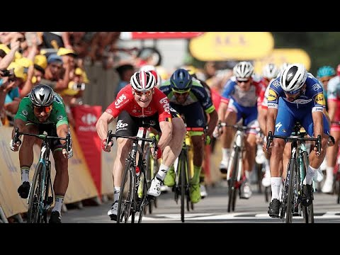 Tour de France: 2. Tagessieg für Gaviria (Kolumbien) in ...