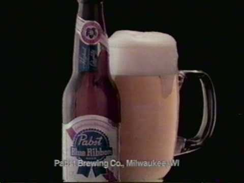 1986 PBR / Pabst Blue Ribbon beer commercial.  Featuring a Roller Derby / Rollerball type sport.