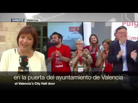 Empar Marco cubriendo las elecciones en la Comunitat Valenciana
