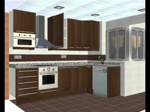 Dise o de cocinas en 3d for Cocinas enchapadas