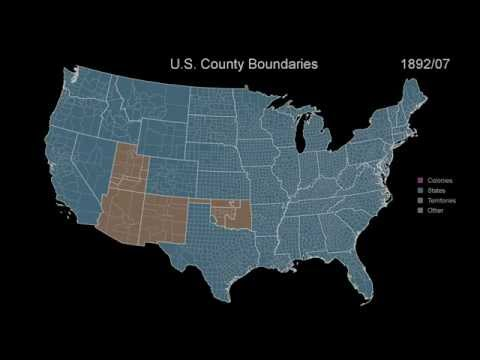 An Animated Timeline Showing the Border Changes of the 48 Contiguous United States Over 400