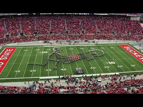 18 - Ohio State's marching band performs during the Oct. 18 Buckeyes game versus Rutgers. Theme: Classic Rock.