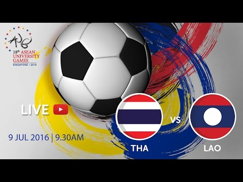 Thailand vs Laos at the 18th ASEAN University Games Singapore 2016