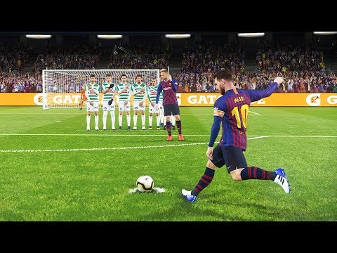 PES 2019 | BARCELONA VS EIBAR | Messi Free Kick Goal and Hat-trick Goals | Gameplay PC