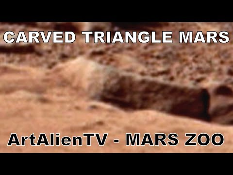 Mars Triangle: Carved Ancient Alien Glyph: Curiosity Anomaly: MARS ZOO 2014. ArtAlienTV 1080p