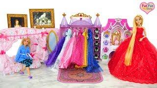 Download Video Putri Barbie Rapunzel boneka Kamar Tidur Pagi Gaun Make up MP3 3GP MP4