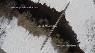 尾瀬ヶ原の空撮
