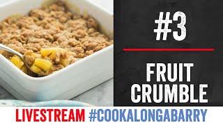 Store Cupboard Fruit Crumble - Livestream 3 #cookalongabarry by  My Virgin Kitchen