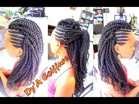 HOW TO ★ Mohawk Style With Ghana Cornrows & Havana Twist - By Dy'A