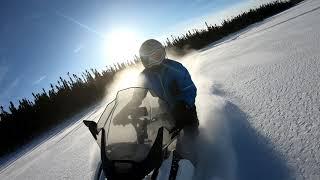 7. Ski-Doo Expedition Sport Gen 4 carving snow.