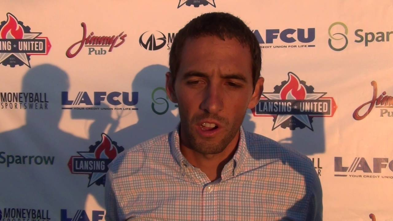 Lansing United 2-0 Dayton Dynamo Post game  July 2016