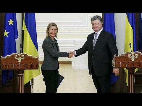 Ουκρανία: Συνάντηση Ποροσένκο – Μογκερίνι