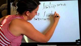 Trigonometric Substitution Example 4