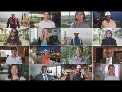 雪佛龙公司员工谈论雪佛龙方式多样性和包容性的价值