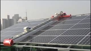Automated  Solar Panel Cleaning  System youtube
