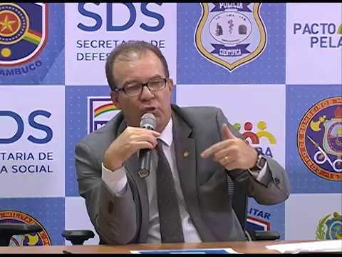 SDS divulga o balanço do número de homicídios em Pernambuco
