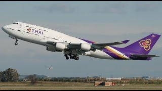 Recorded January 7, 2016 My flight (TG404) from Singapore's Changi Airport to Bangkok's Suvarnabhumi Airport. I fly first class on a Thai Airways 747-400. ...