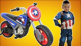 Nonton Captain America Electric Ride On Motorcycle 6v Unboxing Superhero In Real Life Ckn Toys Film Subtitle Indonesia Streaming Movie Download