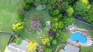 Trying out new Camera Drone at Steve's Landscape