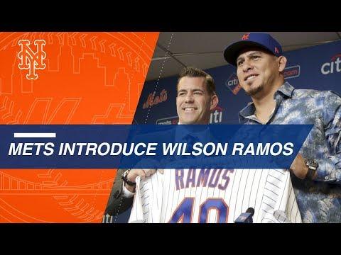Video: Mets introduce catcher Wilson Ramos