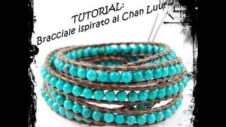 Tutorial - Bracciale ispirato al Chan Luu - YouTube