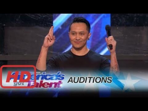 America's Got Talent Auditions Demian Aditya: Escape Artist Risks His Life During AGT Audition - Am (видео)