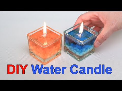 DIY Beautiful Water Candle