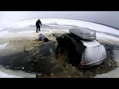 видео как тонут машины на рыбалке