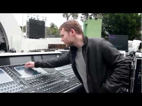 Coldplay Engineer Daniel Green at the Hollywood Bowl