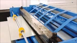 Linia do produkcji kanałów z otworowaniem pod izolacje techniczne.