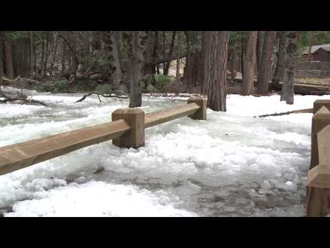 """Frazil Ice"": when water in Yosemite flows like lava"