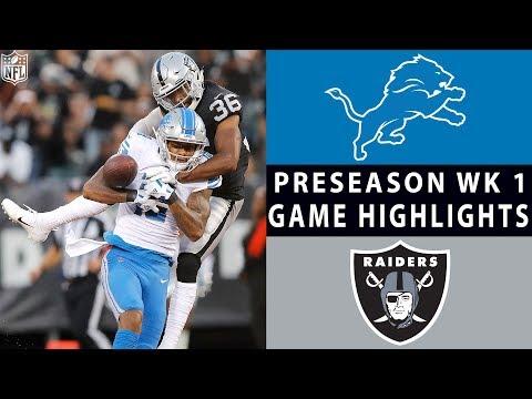 Lions vs. Raiders Highlights | NFL 2018 Preseason Week 1