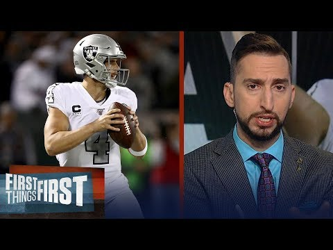 Derek Carr is playing the best football in last 4 years for the Raiders   NFL   FIRST THINGS FIRST