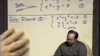 College Algebra - Lecture 34 - System of Non-Linear Equations