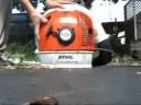 blower - Stihl BR550 in action.