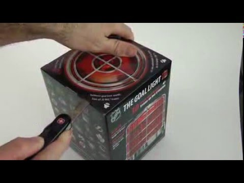 NHL HOCKEY GOAL LIGHT unboxing and set up and full review by Fan Fever