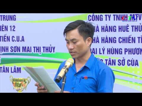 Xã đoàn Cam Nghĩa tổ chức giải bóng đá nam thanh niên